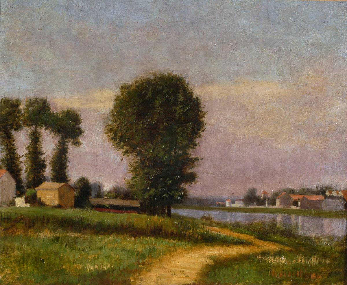 Gustave Caillebotte, La berge du Petit-Gennevilliers et la Seine (dépôt Musée d'Argenteuil) © Droits réservés
