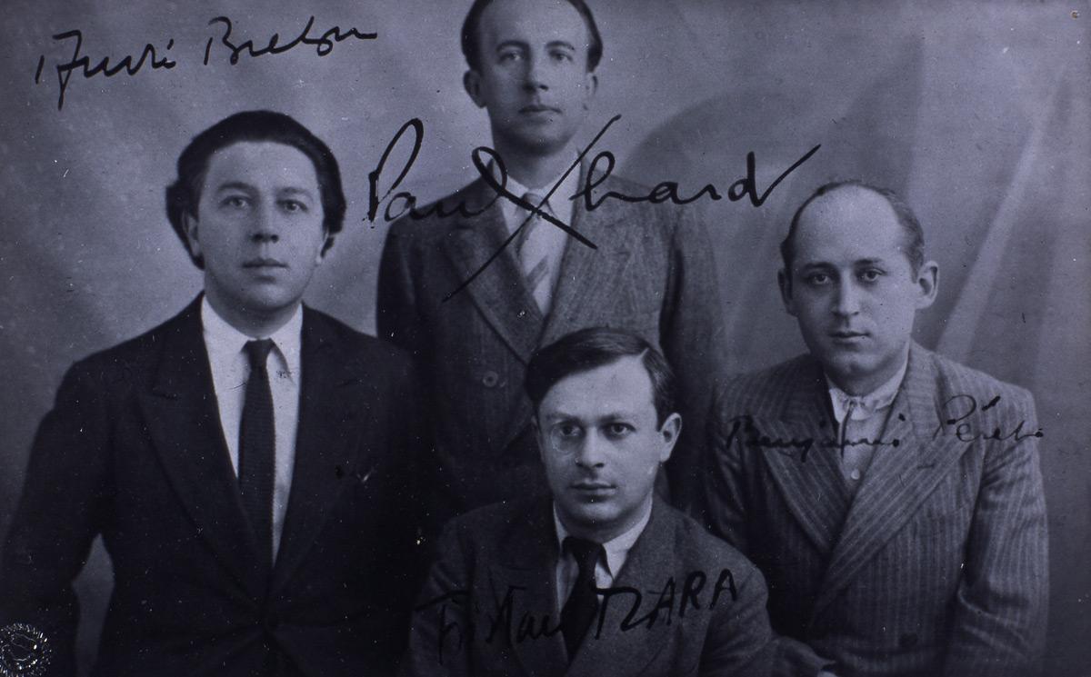 Anonyme, André Breton, Paul Eluard, Benjamin Péret et Tristan Tzara (1920-1921) © I. Andréani
