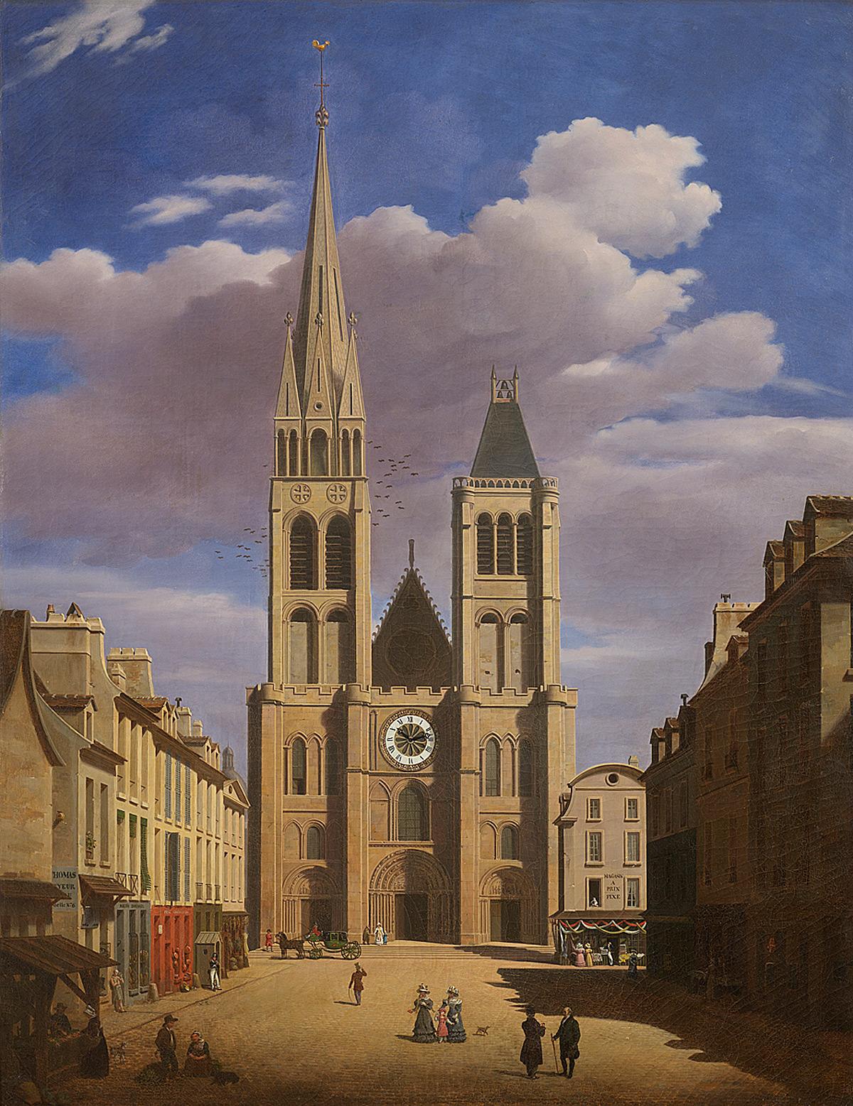 Entourage d'Etienne-Joseph Bouhot (1780-1862), La Basilique de Saint-Denis vers 1817 © I. Andréani
