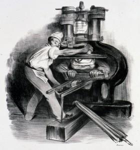Honoré Daumier, Ah! Tu veux te frotter à la presse !! © I. Andréani
