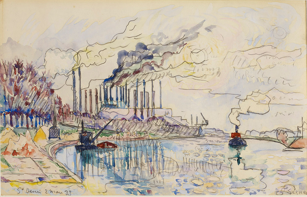 Paul Signac, Les dix-huit cheminées de Saint-Denis (1933) © I. Andréani