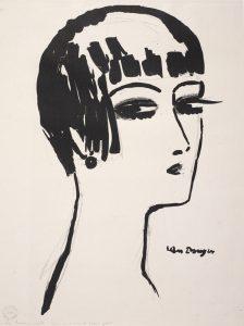 Kees Van Dongen, Les cheveux courts (1926) © ADAGP, Paris 2017 / Irène Andréani