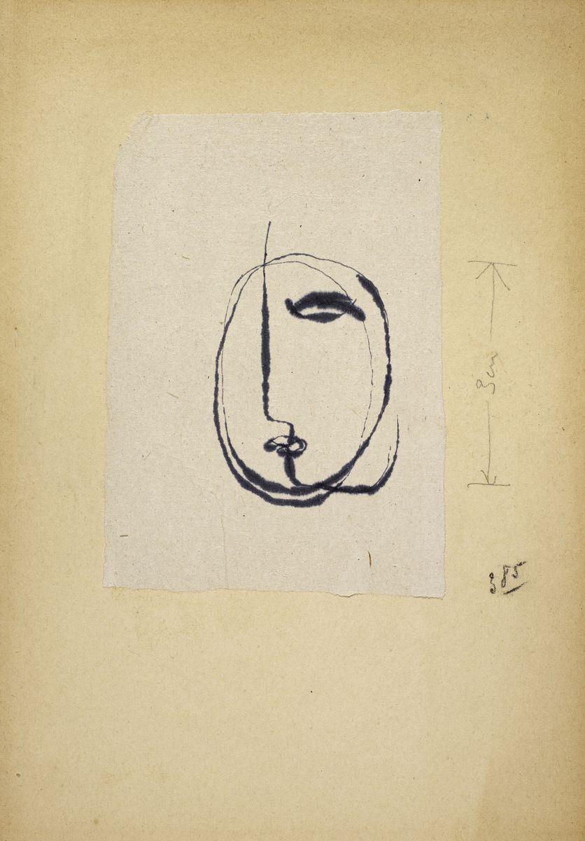 Jean Fautrier, Visage (1943-1944) © ADAGP, Paris 2020. Cliché : I. Andréani