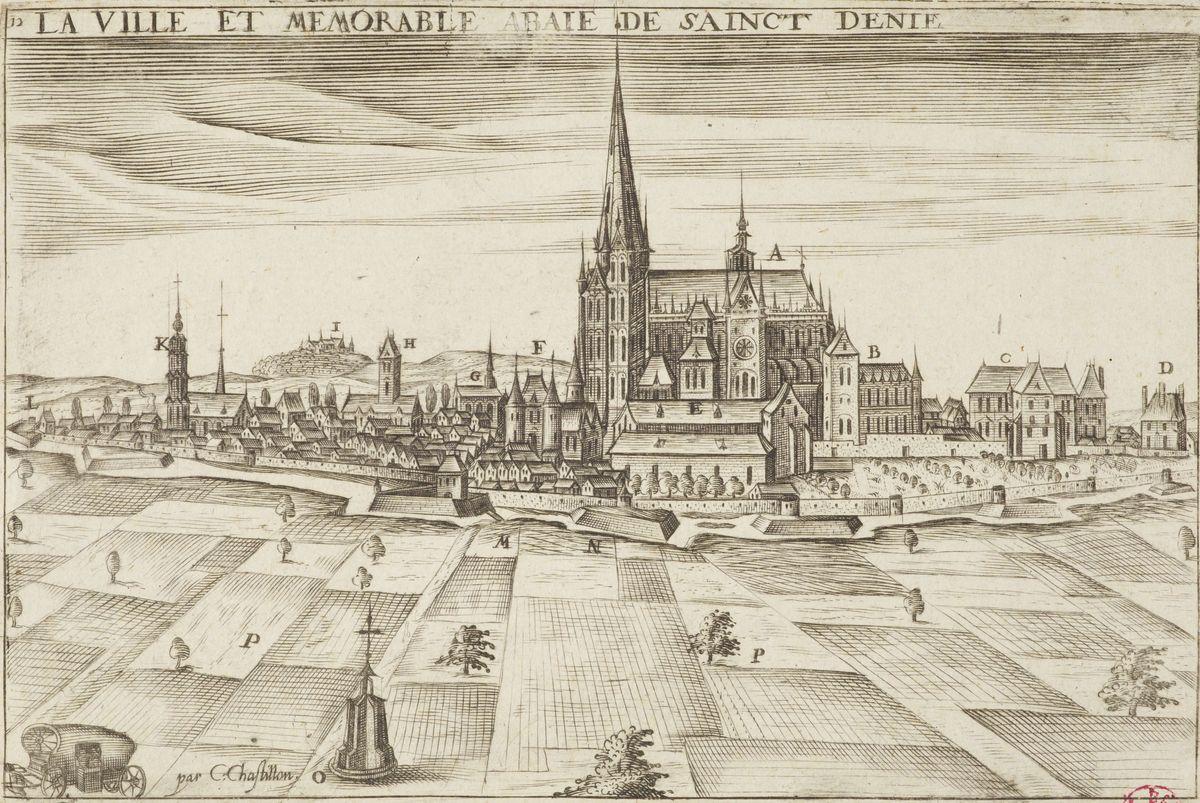 Claude Chastillon, La ville et mémorable abbaye de Saint-Denis © I. Andréani