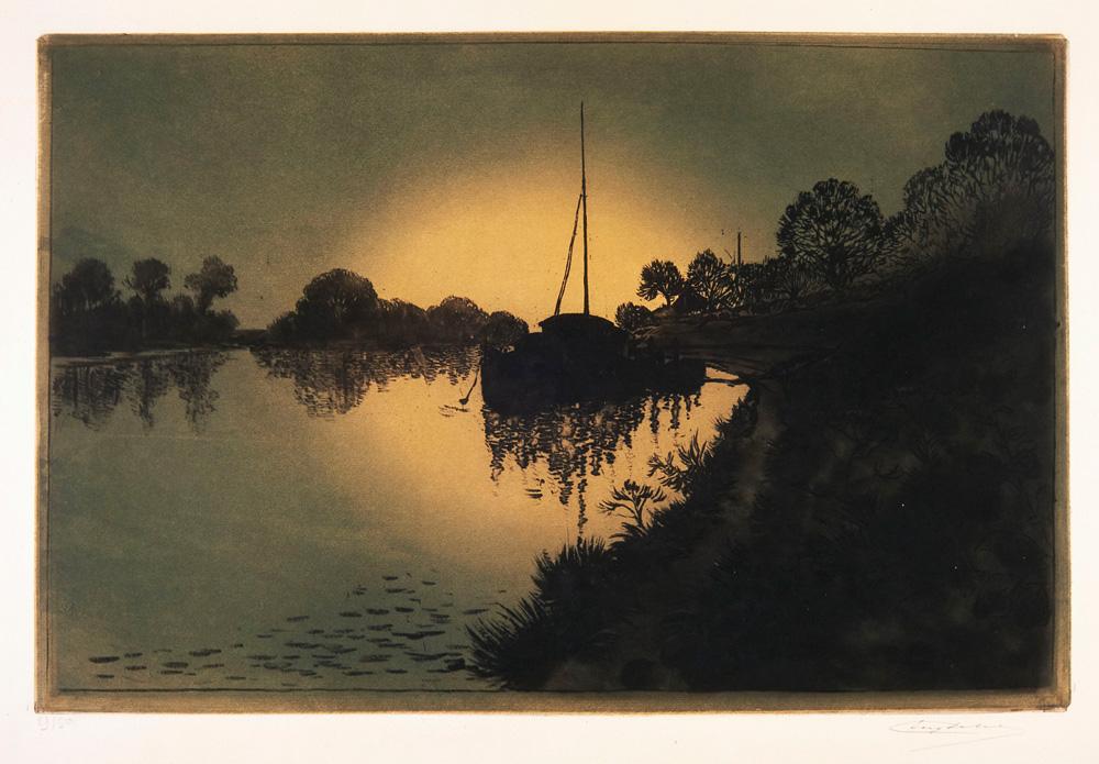 Eugène Delâtre, La Seine à Gennevilliers (eau-forte et aquatinte sur papier, vers 1930) © I. Andréani