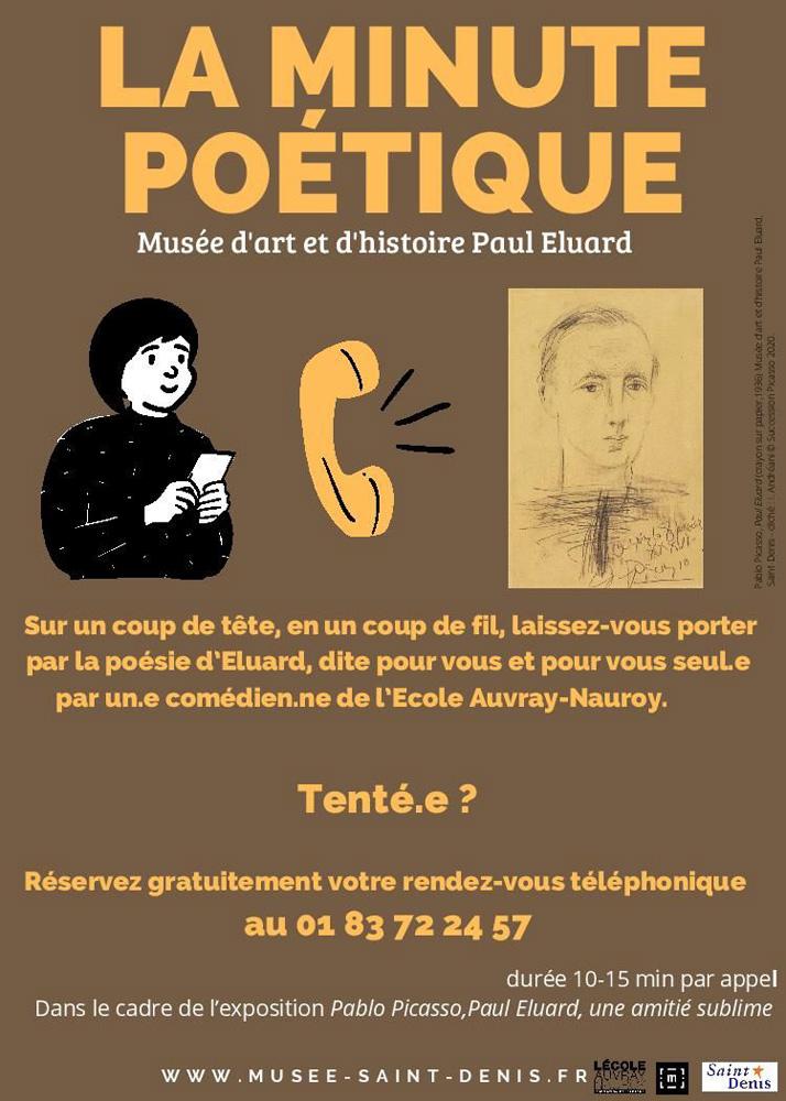 flyer de la minute poétique avec les informations pratiques d'inscription