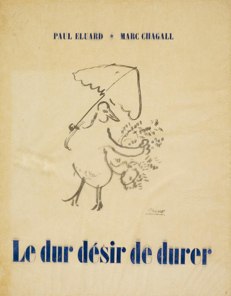 couverture du recueil Le dur désir de durer de Paul Eluard, illustré par Marc Chagall